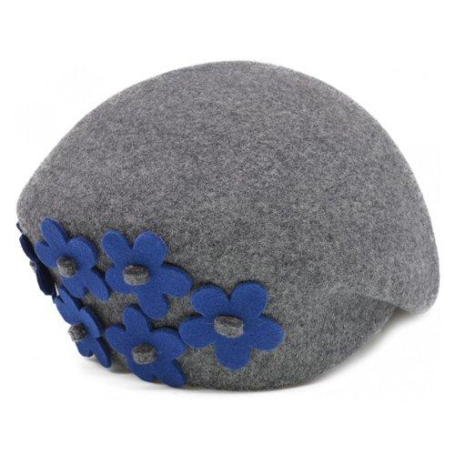 Bascuta gri cu flori laterale albastre
