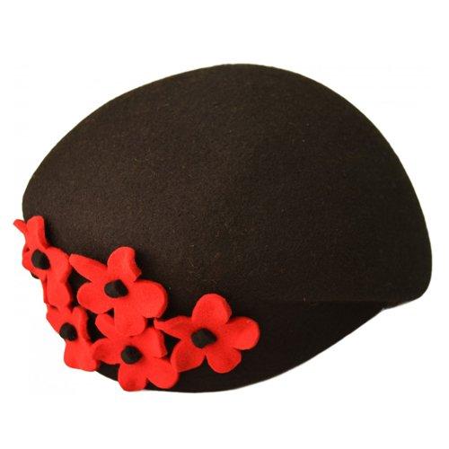 Bascuta neagra cu flori laterale rosii