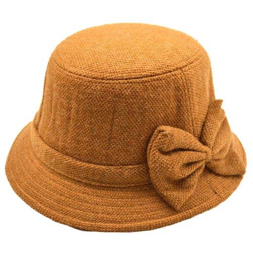 Palarie cloche din lana cu aspect vintage