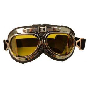 Ochelari de aviator / motociclist RETRO NAZI cu lentile galbene