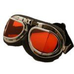 Ochelari de aviator / motociclist RETRO NAZI cu lentile ORANGE