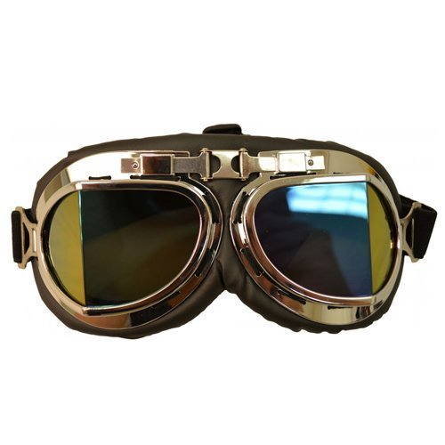 Ochelari de aviator / motociclist RETRO NAZI cu lentile RAINBOW