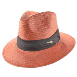 Palarie Panama rosu inchis
