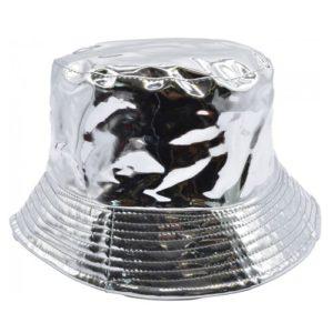 Palarie de ploaie bucket hat argintie