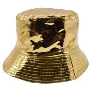Palarie de ploaie bucket hat aurie