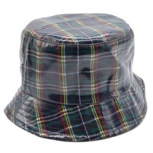 Palarie de ploaie bucket hat tartan verde
