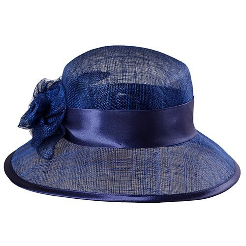 Palarie eleganta din sisal albastru regal