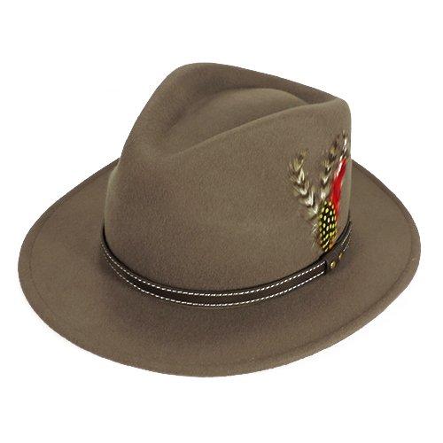 Palarie fedora tip cowboy gri