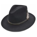 Palarie fedora tip cowboy neagra