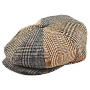 Sapca newsboy din tweed multicolor