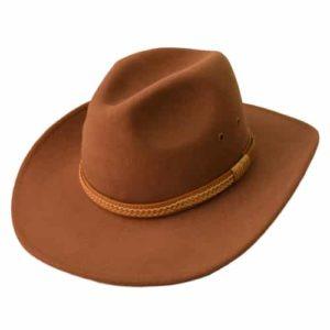 Palarie cowboy din fetru bej