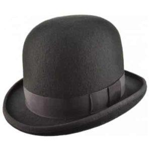 Bowler hat inalt negru