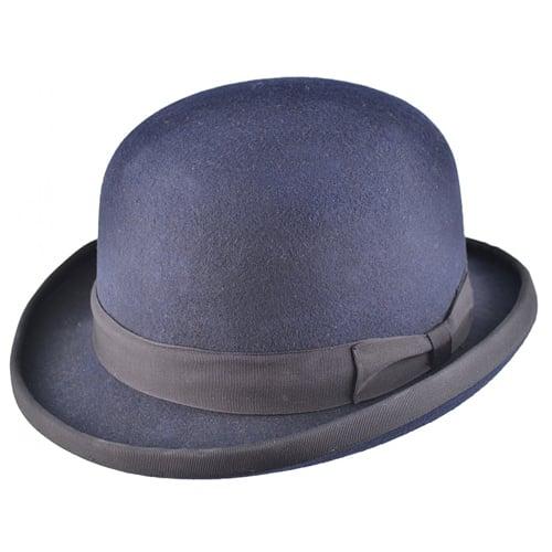 Palarie bowler hat clasic bleumarin