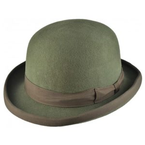 Palarie bowler hat clasic olive