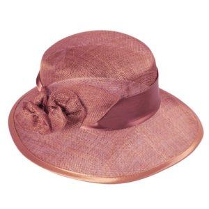 Palarie eleganta din sisal roz marsala